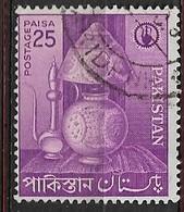 PAKISTAN   1962 Small Industries USED  Camel Skin Lamp /Violet - Briefmarken