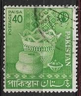 PAKISTAN   1962 Small Industries USED  Wooden Powder Bowl /  Green - Briefmarken