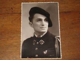 CARTE PHOTO D'UN SOLDAT DU 6 E BCA Années 2 E Guerre PHOTO RAMBAUD/ GRENOBLE - Fotografía
