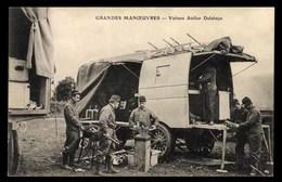 AUTOMOBILE Atelier Delahaye, Grandes Manoeuvres, Soldats - Cartes Postales
