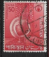 PAKISTAN   1962 Small Industries USED  Inlaid Cigarette Case. Red - Briefmarken