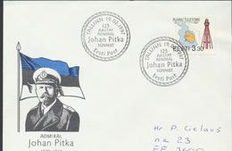 57-930 Estonia Military Navy Pitka Cover 19.02.1997 From Post Arrival Postmark - Estonie