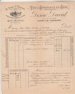 Facture Illustrée 9/5/1894 DESIRE DAVID Au Grand St Vernier Vins Eaux De Vie Marc Mousseux LONS LE SAUNIER Jura - 1800 – 1899
