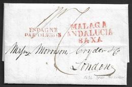 1836 - ENVUELTA - MALAGA A LONDRES - MALAGA ANDALUCIA BAXA. - Espagne