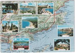 La Cote D'Azur Varoise - D'après Carte Michelin  No. 84 - (Sainte Maxime, Ramatuelle, Croix Valmer Etc., France) - Frankrijk