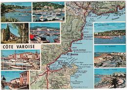 Cote Varoise - D'après Carte Michelin  No. 195 - 1970 - (St. Aygulf, Port-Grimaud, Cogolin Etc., France) - Frankrijk