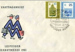 DDR -23 8 1961 - FDC LEIPZIGER HERBSTRSMESSE - FDC: Enveloppes