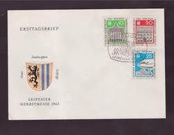 DDR -28 8 1962- FDC LEIPZIGER HERBSTRSMESSE - FDC: Enveloppes