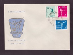 DDR - 3 6 1961 FDC KUNSTTURN-EUROPAPOKAL DER FRAUEN -LEIPZIG - FDC: Enveloppes