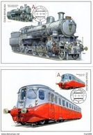 2018 Carte Maximum Monde Du Rail II Trains Locomotive à Vapeur Autorail - FDC