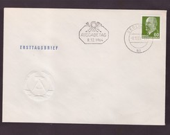 DDR - 25 6 1963 -  2 FDC FREIMARKEN :CAPO DI STATO W. ULBRICHT - FDC: Enveloppes