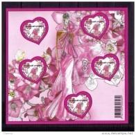 France  Bloc Feuillet Neuf Luxe ** 2009 N° 127 Saint Valentin Coeur Ungaro Faciale 4€ Lot Vendu Sous Faciale - Nuovi
