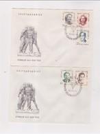 DDR - 22 3 1962  2 FDC ERHALTUNG DER NATIONALEN MAHN-UND GEDENKSTATTEN:ANTIFASCHIS TEN - FDC: Enveloppes