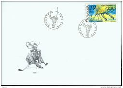 FDC 141 SLOVAQUIE 1998 Mi 301 Yv 259 JO Hiver à NAGANO Hockey Sur Glace - FDC