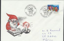 57-954 Estonia Christmas FDC 03.12.1997 From Post Arrival Postmark - Estonie