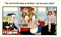 SHE SAID SHE FELL ASLEEP PN THE BEACH - Humor