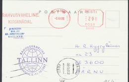 57-964 Estonia Tallinn Letter Week Postcard 05.10.1997 From Post Arrival Postmark - Estonie