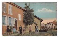 51 La Grange Aux Bois Rue Du Calvaire Sainte Menehould Cpa Carte Animée Edit Wayere Matériel Agricole - Sainte-Menehould
