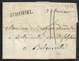1786 - LAC - St. MIHIEL 29mm X 4mm . TB Et Rare - Marcophilie (Lettres)