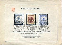 41409 CESKOSLOVENSKO, Special Card For The Ski  Tatra Cup Of Tatranska Lomnica - FDC