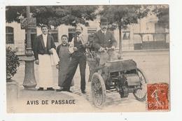 """TOURS - AVIS DE PASSAGE - VEHICULE 3 ROUES DEVANT CAFE """"CHAT NOIR"""" - 37 - Tours"""