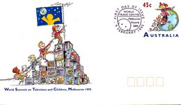 AUSTRALIE. Entier Postal Avec Oblitération 1er Jour De 1995. Télévision. - Telecom