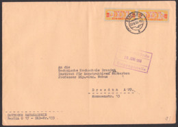 DDR ZKD 19IL(2) BERLIN =17, Deutsche Bauakademie Doppelbrief A5 An TU Dresden - [6] Oost-Duitsland