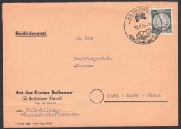 Optik Brille Die Stadt Der Optok Rathenow (Havel) BehördenpostBrief 13.8.55 - Astrologie