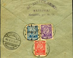 41413 Lithuania,  Part Of Cover  From Raseiniai To Germany 1925 - Lithuania
