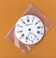 """Horlogerie Cadran Ancien Montre Gousset """"Régulateur """"  Français émail Chiffres Romains Et Rouges  (4cm) TBE) - Bijoux & Horlogerie"""