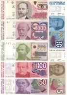 Argentina Australes Lot Set 7 Banknotes XF - UNC - Argentine
