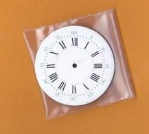 Horlogerie Cadran Montre Ancienne Gousset Chiffres Romains émail  (4 Cm )TBE - Bijoux & Horlogerie
