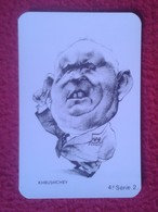 CALENDARIO DE BOLSILLO CALENDAR PORTUGAL ? CARICATURAS DE POLÍTICOS CARICATURA CARICATURE CARTOON Nikita Khrushchev USSR - Calendarios