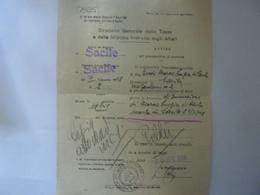"""Ricevuta """"DIREZIONE GENERALE DELLE TASSE E DELLE IMPOSTE INDIRETTE SUGLI AFFARI - SACILE"""" 1949 - Italia"""