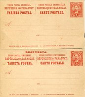 41418 Paraguay, Double Stationery  4+4 C.  Tarjeta Postal  With Reply Card - Paraguay