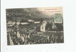 CAUTERETS 109 BIS LES HAUTES PYRENEES UNE ARRIVEE MINISTERIELLA A LA GARE DU P C L 1906 - Cauterets