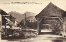 ABONDANCE  (Hte Savoie) Alt 927m Le Vieux Pont Couvert Et La Montagne Entre Pertuis (alt 2180m )  RV - Abondance