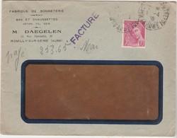 Enveloppe Commerciale1949 / DAEGELEN / Fabrique Bonneterie / 10 Romilly Sur Seine / Aube - Cartes
