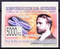Guinea 2008 MNH Imperf, Thomas H Morgan, Nobel Medicine, Heredity - Nobelpreisträger