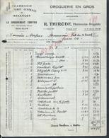FACTURE DE 1931 R THIRODE PHARMACIEN DROGUISTE PHARMACIE À BESANÇON : - France
