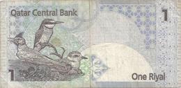 QATAR CENTRAL BANK . ONE RIYAL .  2 SCANES - Qatar