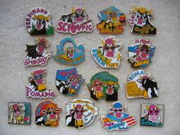 Lot D'une Série De 17 Pin's De Vaches Folles, Délirantes - Animaux
