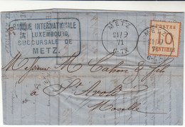 Alsace Lorraine / Germany / France / Banks - France