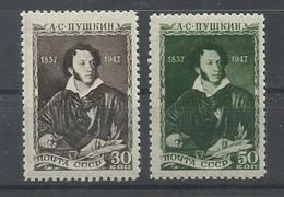 RUSIA   YVERT  1079/80   MH  * - 1923-1991 URSS