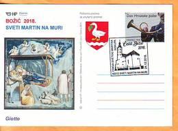 Croatia 2018 Y Postcard Overprint  Religion Christmas Postmark Sveti Martin Na Muri 24.12. - Croatie