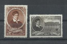 RUSIA   YVERT  1269/70   MH  * - 1923-1991 URSS