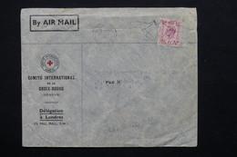 ROYAUME UNI - Enveloppe De La Croix Rouge Pour Alger - L 20893 - Marcofilie