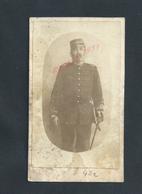 MILITARIA CDV CARTE VISITE SOLDAT AVEC SABRE DU 42e NON ECRITE : - Visiting Cards