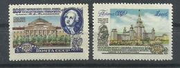 RUSIA   YVERT   1734/35  MH  * - 1923-1991 URSS