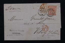 ROYAUME UNI - Lettre De Liverpool Pour La France En 1864 , Affranchissement Plaisant - L 20896 - Marcofilie